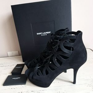 🛍Yves Saint Laurent🛍Tribute Caged Suede Sandals